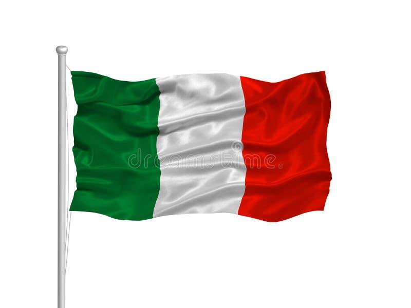 Bandeira 2 de Italy ilustração do vetor