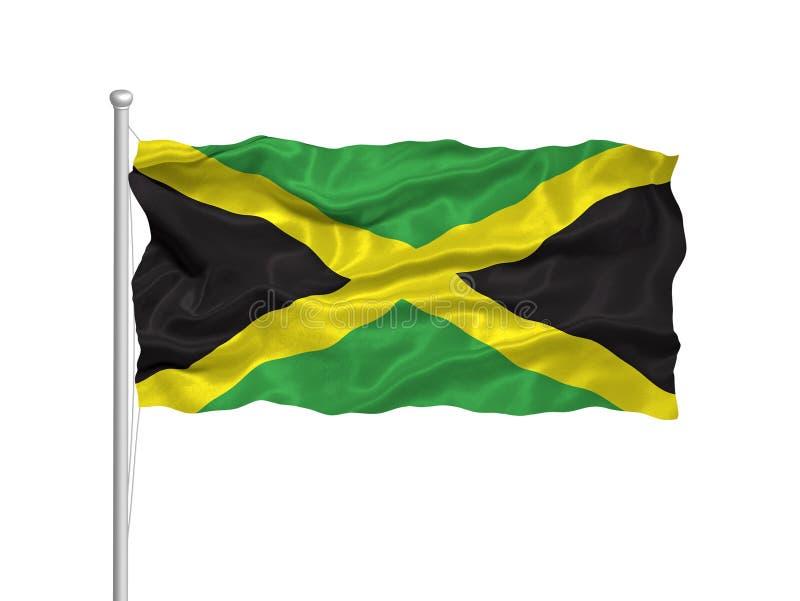 Bandeira 2 de Jamaica ilustração do vetor