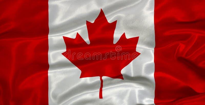 Bandeira 3 de Canadá ilustração royalty free