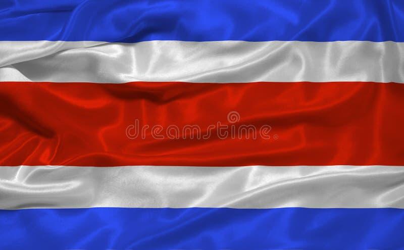 Bandeira 3 de Costa-Rica ilustração do vetor