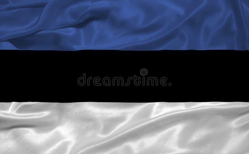 Bandeira 3 de Estónia ilustração stock