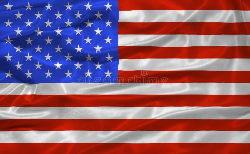 Bandeira 3 de Estados Unidos ilustração do vetor