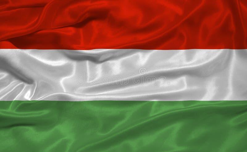 Bandeira 3 de Hungria ilustração do vetor