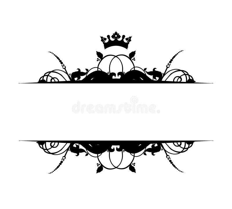 Bandeira ilustração stock