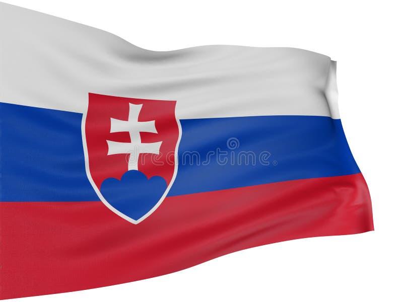 bandeira 3D eslovaca ilustração stock
