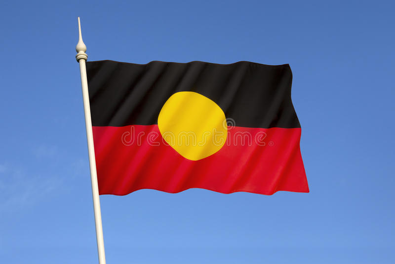 Bandeira aborígene australiana fotografia de stock royalty free