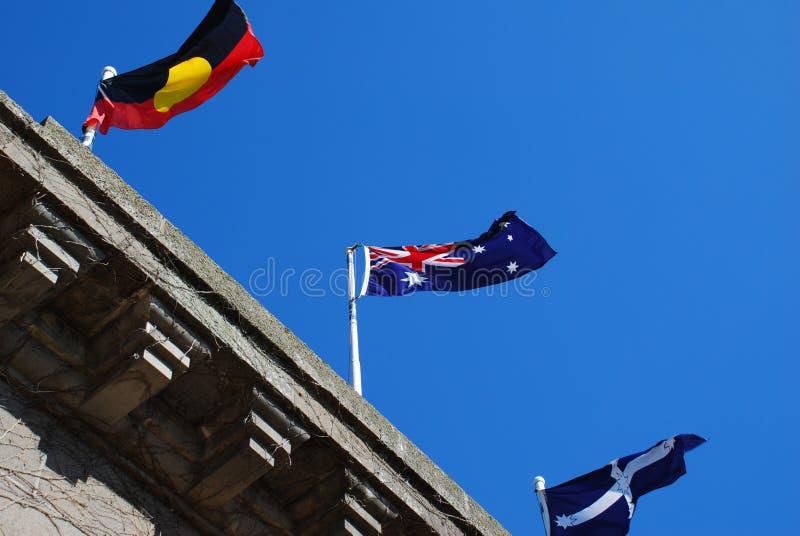 Bandeira aborígene da bandeira australiana de eureka da bandeira fotos de stock royalty free