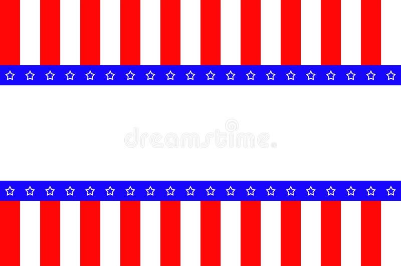 Bandeira abstrata americana ilustração royalty free