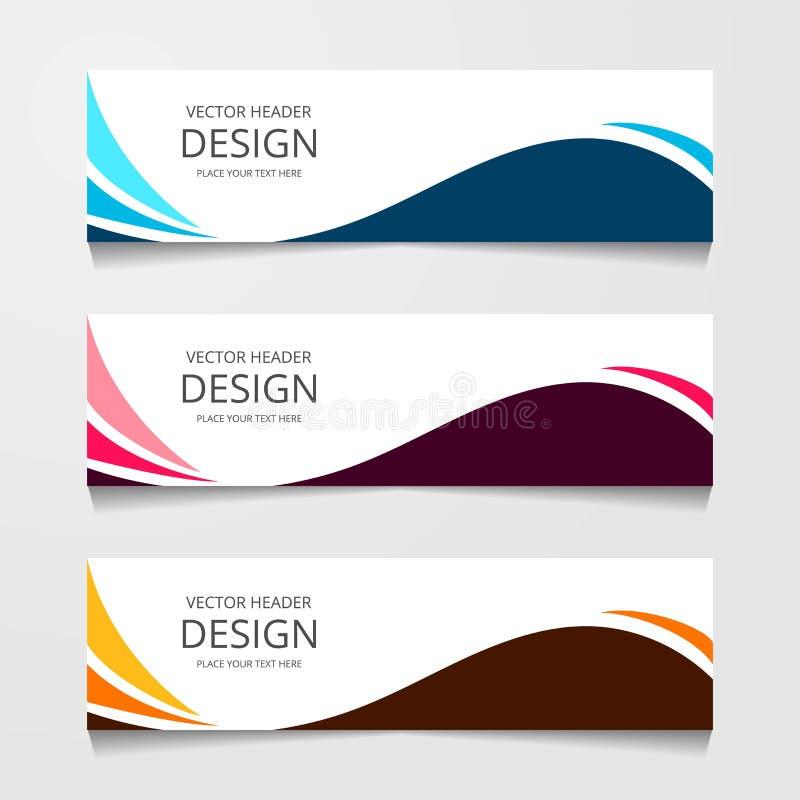 Bandeira abstrata do projeto, molde da Web, moldes do encabeçamento da disposição, ilustração moderna do vetor fotografia de stock