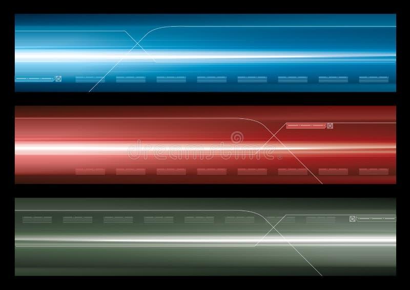 Bandeira abstrata do Web ilustração stock