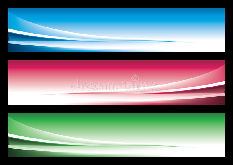 Bandeira abstrata do Web ilustração do vetor