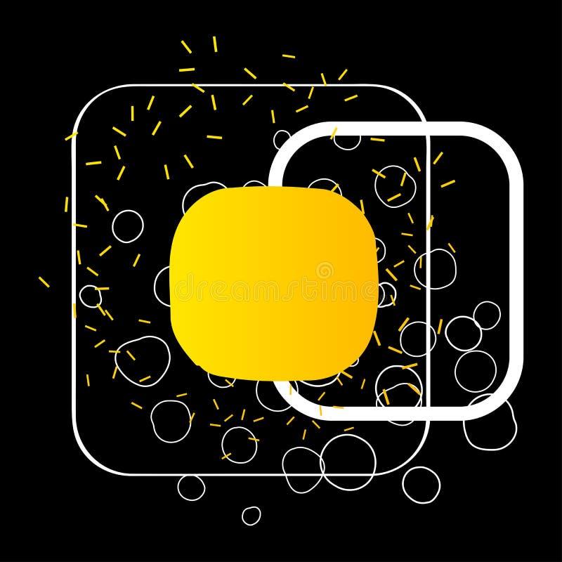 Bandeira abstrata dos formulários da geometria ilustração do vetor