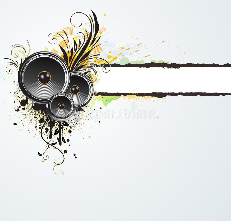 Bandeira abstrata floral de Grunge ilustração do vetor