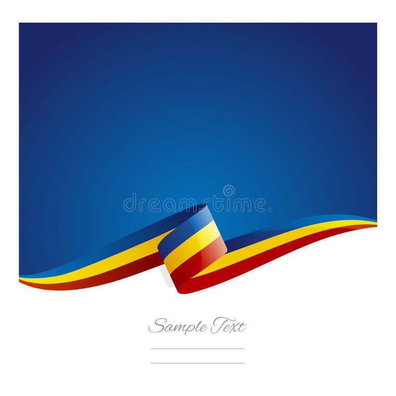 Bandeira abstrata nova da fita da bandeira de Romênia ilustração royalty free