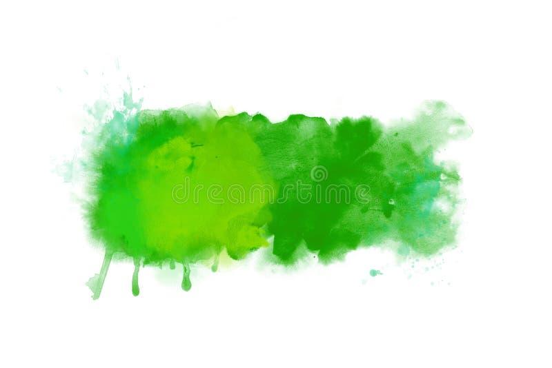 Bandeira abstrata verde do fundo da arte finala da aquarela ilustração do vetor