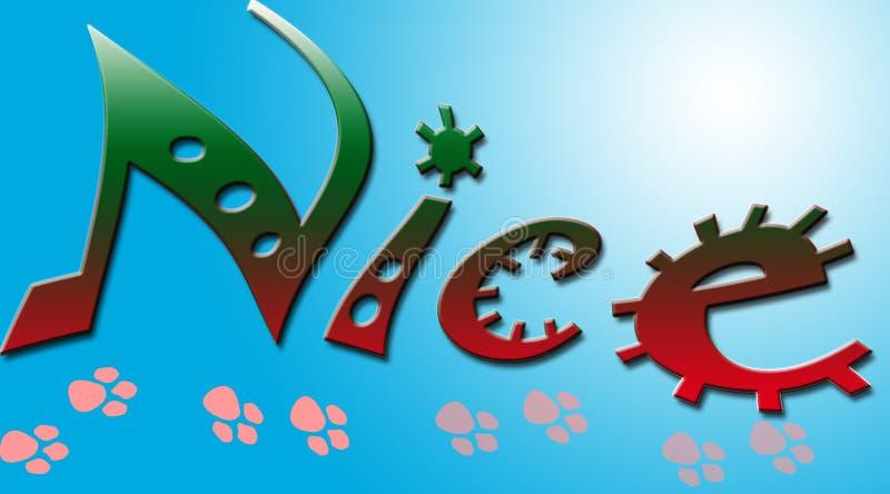 Bandeira agradável decorativa ilustração stock