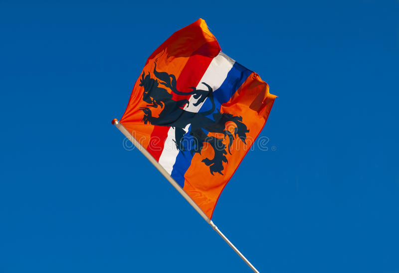 Bandeira alaranjada de Holland imagens de stock