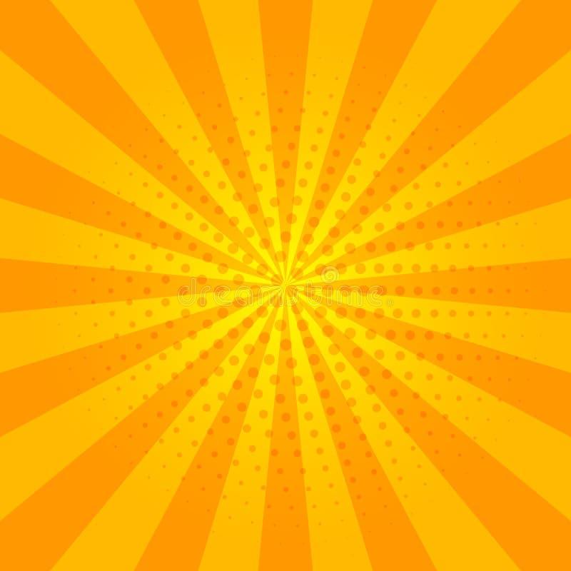 Bandeira alaranjada e amarela ensolarada ilustração royalty free