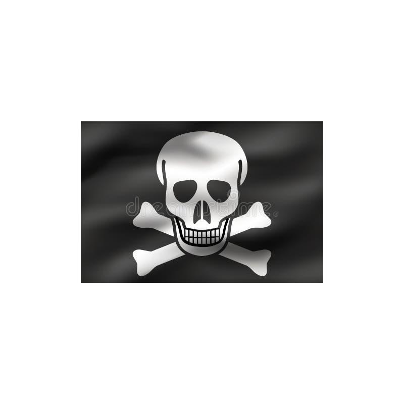 Bandeira alegre de Roger ilustração stock