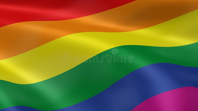 Bandeira alegre do orgulho ilustração do vetor