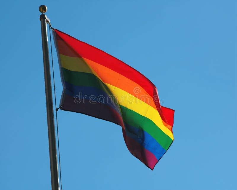 Bandeira alegre do orgulho fotos de stock