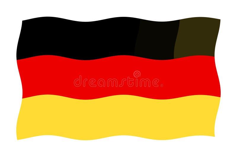 Bandeira alemão ilustração stock