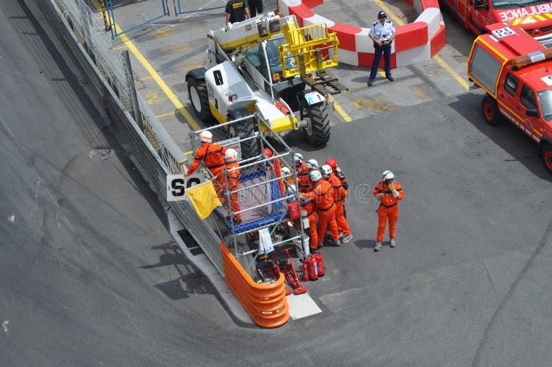 Bandeira amarela - carro de segurança durante a raça fotos de stock royalty free