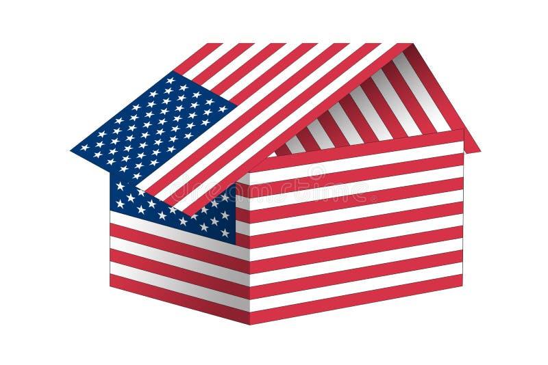 Bandeira americana ilustração royalty free