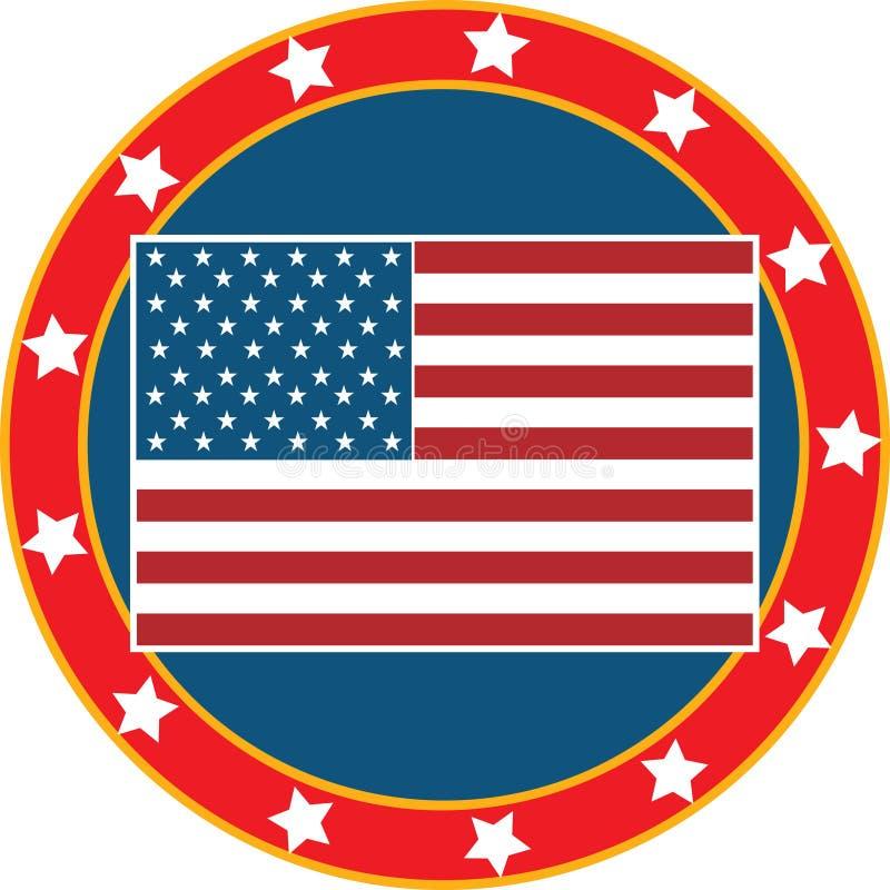 Bandeira americana 3 ilustração stock