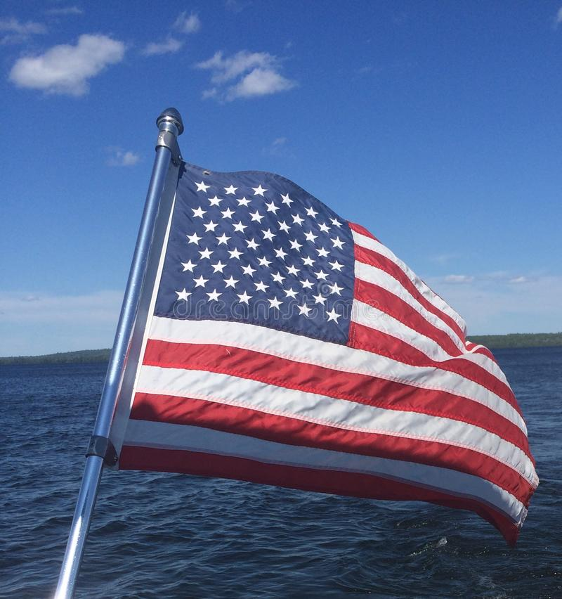 Bandeira americana imagens de stock