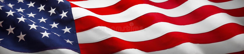 Bandeira americana da onda fotografia de stock royalty free