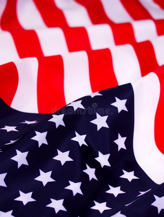 Bandeira americana de ondulação fotografia de stock royalty free