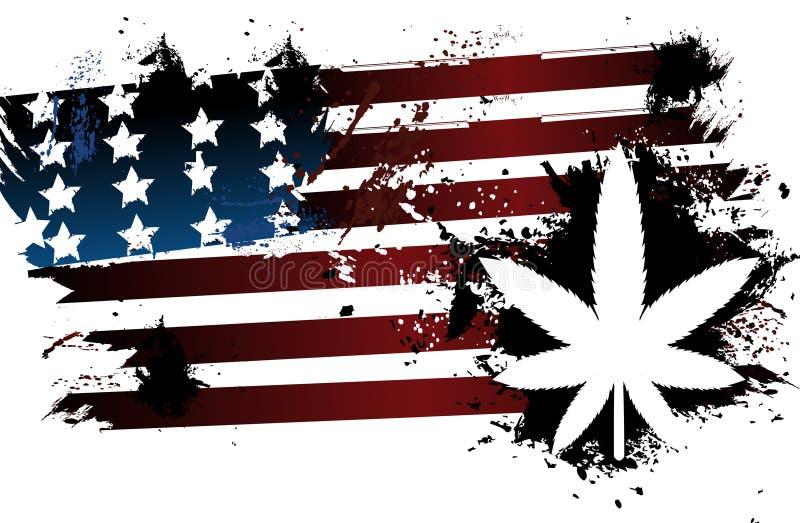 Bandeira americana de Rastafarian ilustração stock