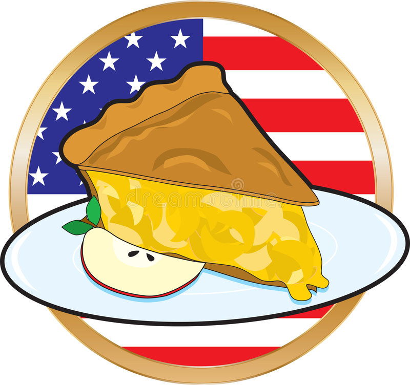 Bandeira americana de torta de Apple ilustração royalty free