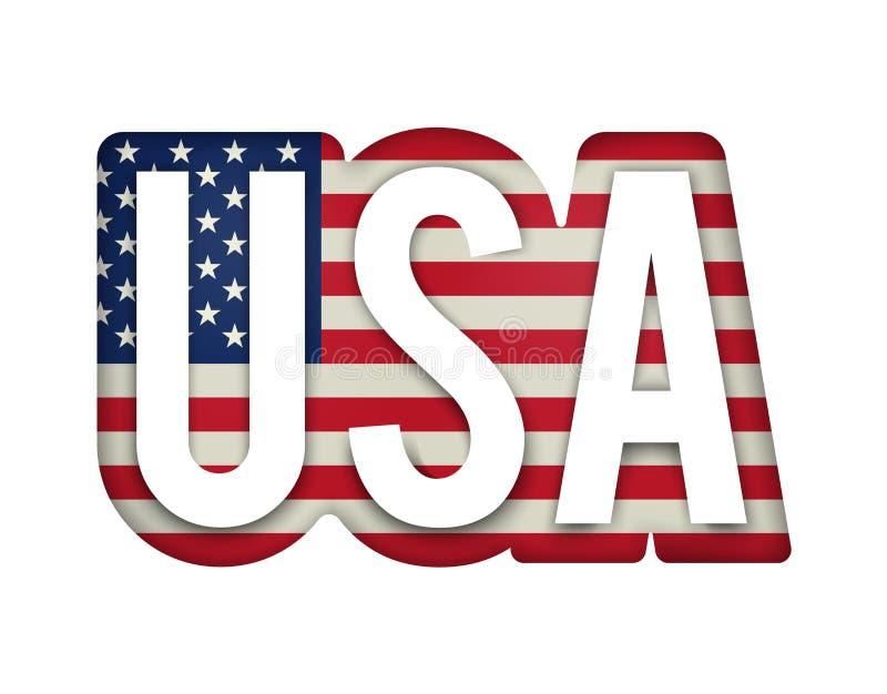 Bandeira americana do Estados Unidos no botão lustroso do formulário do ícone ilustração do vetor