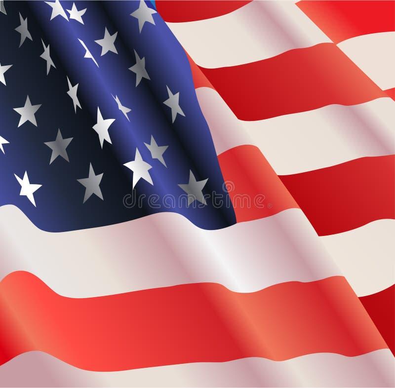 Bandeira americana do vetor ilustração stock