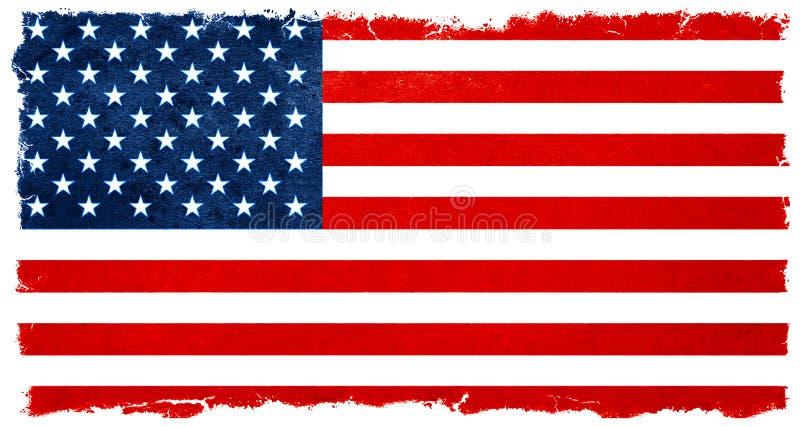 Bandeira americana do vintage Resultados de eleição do fundo da bandeira fotos de stock