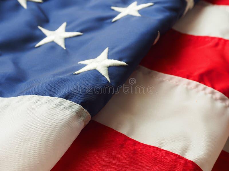 Bandeira americana dobrada imagens de stock