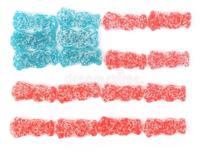 Bandeira americana dos doces ácidos imagem de stock