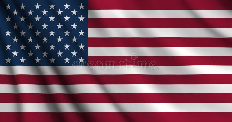 Bandeira americana dos EUA ilustração do vetor