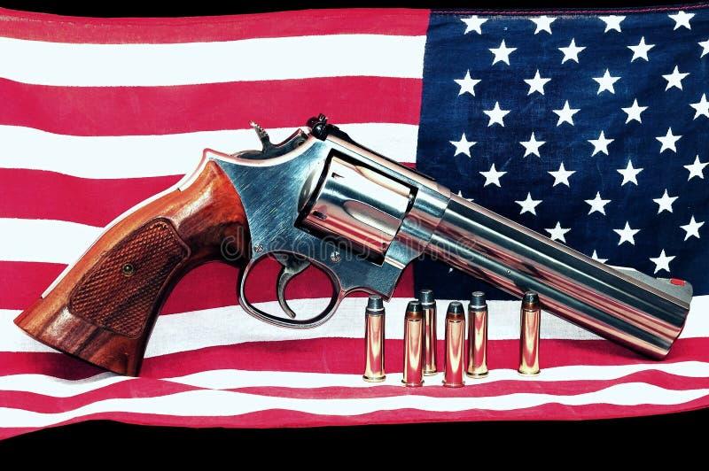 Bandeira americana e injetor imagens de stock