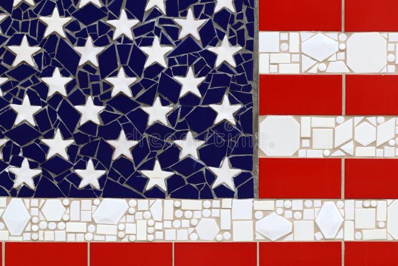 A bandeira americana especial, com bandeira dos Estados Unidos imagens de stock