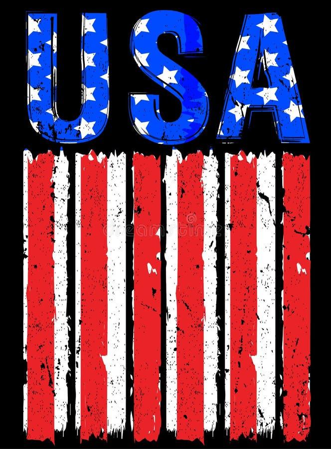 Bandeira americana EUA ilustração royalty free