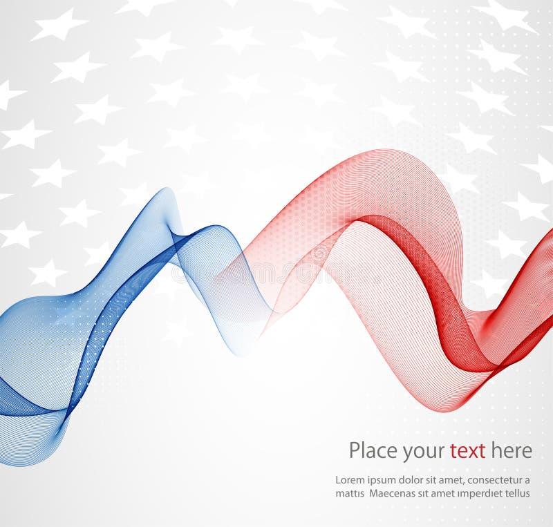 Bandeira americana, fundo abstrato do ilustração royalty free