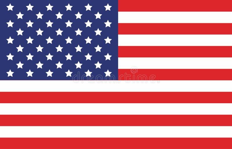 Bandeira americana Imagem do vetor da bandeira americana Fundo da bandeira americana Bandeira americana Estados Unidos da América ilustração stock