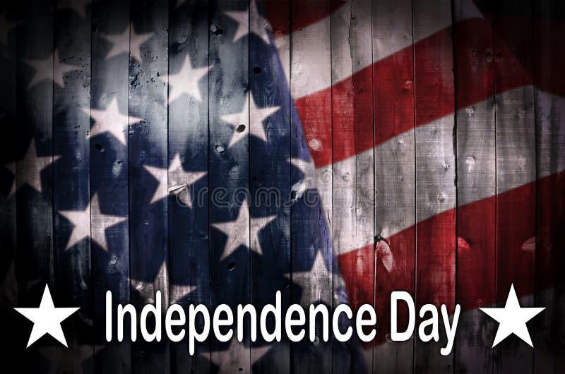 Bandeira americana na madeira imagem de stock royalty free