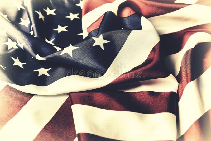 Bandeira americana O símbolo nacional dos EUA Fundo do grunge da independência Day fotografia de stock royalty free