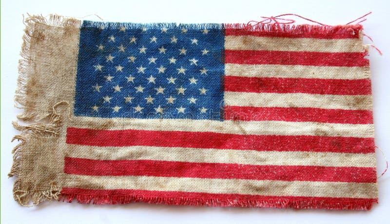 Bandeira americana velha foto de stock