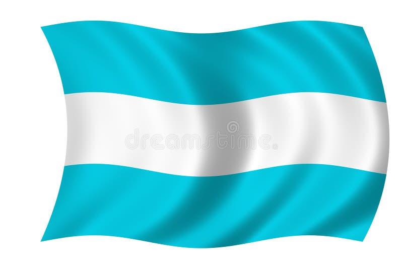 Bandeira argentina ilustração do vetor