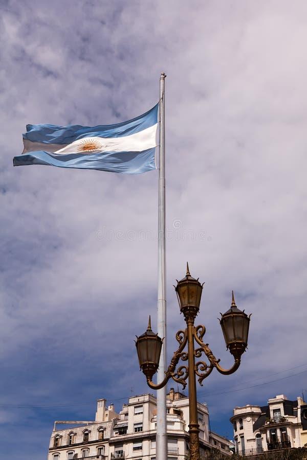 Bandeira argentina, Buenos Aires, Argentina fotos de stock